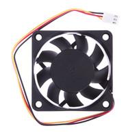 fan 12 v iğnesi toptan satış-39 cm Kablo 1 Adet 12 V DC 6 cm PC Soğutma Taşınabilir Fan Rulman 3 Pin Konektörü P4 70 Derece Sıcaklık Soğutma Fanları için
