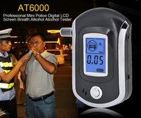 sıcak alkol toptan satış-10 adet Sıcak satış moda Profesyonel Mini Polis Dijital LCD Breath Alkol Tester Alkol AT6000 tarafından Çin yazılan