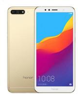 desbloquear sim simone phone sim venda por atacado-Original Huawei Honra 7A Jogar Glob Firmware Octa Núcleo 32 GB Único Traseira Camear / Camear Traseira Dupla Android 8.0 5.7 polegada Desbloqueado telefones