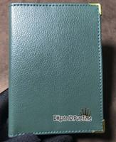 enviar relojes de época al por mayor-La mejor edición Nuevo Vintage Pasaporte Relojes originales Certificado Cartera Cuero verde Fecha de vencimiento Gmt Sub 116610 Envío de la gota Puretime