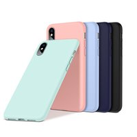 Wholesale iphone fashion logo - Original Liquid Silicone Case for iPhone X 8 7 6s plus 5s Have LOGO & Retail Package Microfiber Fashion Luxury Cover