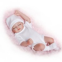 Wholesale full body silicone toy for sale - Group buy Mini Lovely Simulation Baby Bathing In Water Full Body Silicone Reborn Dolls Soft Arms And Legs Flexible Doll Model tz WW