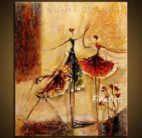 tanz wand leinwand großhandel-Handgemalte abstrakte Tanz Malerei zum Verkauf moderne Kunst Gemälde Acryl Wandmalerei Leinwand Kunst dekorative Wand Bilder