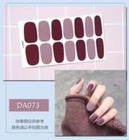 Wholesale DIY Adhesive Nail Stickers With paper card packaging Nail file Waterproof Decal Paper Special Nail Art Polishing Stickers Decor
