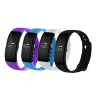 Wholesale home general - Fashion waterproof V66 bluetooth heart rate monitor Smartband sleep OLED intelligent bracelet general all smartphones
