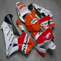 ingrosso corpo personalizzato cbr-Bulloni + Custom repsol orange white ABS racing version Kit corpo in plastica per moto per CBR600RR 2003-2004 CBR 600RR Carena