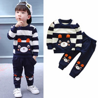 Wholesale kids bear costumes - Puseky Bear Kids Clothes Baby Boys Clothing Set Toddler Boy Clothing Boutique Childrens Kids Boys Costume 2017 Autumn Outfits