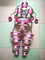 стальная манжета пояса целомудрия оптовых-Женский из нержавеющей стали 9 шт. наборы Пояс Целомудрия устройство воротник бюстгальтер руки наручные манжеты бедра колено хвостовик лодыжки кольцо для взрослых связывание БДСМ секс игрушки