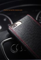 Wholesale Cross Iphone Covers - Case for iphone 7 Luxury Cross Pattern Leather Cover for iphone 7 plus Ultra Slim fashion for 4.7 5.5 inch