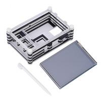 himbeere großhandel-Freeshipping HD 3.5 Zoll LCD-Touch Screen Anzeige + Neunschicht Acrylkasten für Raspberry Pi 3
