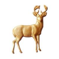 moldes de chocolate para animales al por mayor-3D Buck Deer Elk Fondant Molde de Pastel de Silicona Decoración de La Torta de Azúcar de Chocolate Moldes de Animales D320 Envío gratis