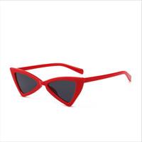 Gafas de sol del triángulo 2018 señora gafas de sol del arco elegante retro  europeo y americano gafas de sol diseño de marca de radiación del 100% anti- sol c519aa46ba9c