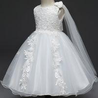 Vente En Gros Robes De Bapteme Rose Blanc 2018 En Vrac A Partir De