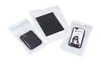 bolsas de vacío al por mayor-Bolsa sellada Transpatent Bolso de la bolsa con cierre hermético blanco perlado de la película que se puede cerrar Bolsas transparentes del embalaje con la aspiradora para los productos 3C