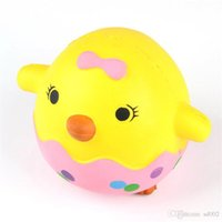 Wholesale Eggshell Chicken Squishy Squishies Slow Rising Jumbo Kawaii Squeeze PU Rebound Phone Charm Yellow Lovely Toy Gift sz ff