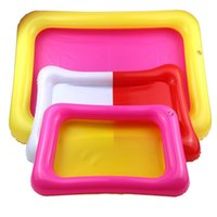 Wholesale kids trays - Plastic Inflatable Sand Tray Kid Playing Clay Color Mud Toy Accessorie Square Beach Sandbox 2 4yf3 C
