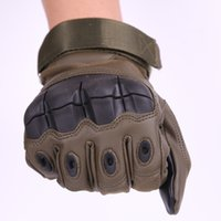 Wholesale black leather touchscreen gloves resale online - Touchscreen Impact Winter Gloves General Purpose Cold Weather Wind Resistant Protection Gloves Combat Outdoor Sports Adventure Gloves