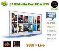 ingrosso migliori scatole iptv-SATXTREM IPS2 Best HD 6/12 mesi 2000+ TV live IPTV M3U ENIGAM2 Androd IPTV ITALIA Mediaset Premium Tedesco Francese Spagna TR UK IT Per TV BOX