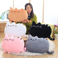 almohadas anime gato al por mayor-Nueva Llegada 6 Colores de peluche Suave Muñeca de Peluche de Anime Juguete lindo gato almohada para Niña Kid Lindo Cojín brinquedos 40 * 30 cm