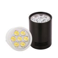 spot ışık odası toptan satış-Yüzeye Monte LED Tavan Işıkları Lambaları LED Spot 3 W 5 W 7 W 12 W Oturma odası banyo mutfak ışıkları için Downlight