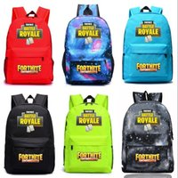 Wholesale wholesale comic clothing online - Fashion Fortnite Bookbag High Capacity Luminous Sports Backpack Casual The Fortress Night Student Comic Game Storage Bag Top Quality rr BB