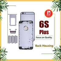 Wholesale tray back - Back Housing Battery Cover Coque for iPhone 6S Plus with LOGO & Buttons & Sim Tray +Custom IMEI Fundas Chassis Rear Door Middle Body Panel