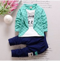 Wholesale 2018 Baby Boys And Girls Suit Brand Tracksuits Kids Clothing Set Hot Sell Fashion Spring Autumn Children s Dresses Long Sleeve