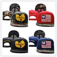 Wholesale wutang hats resale online - new Black leather wu tang snapback hat wutang baseball cap wu tang clan bone gorras