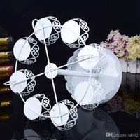 Wholesale cupcakes dessert stand resale online - Good Quality Metal Iron Cupcake Stands For Wedding Birthday Party Decoration Cake Racks Two Layers Dessert Holder Bardian jd dd