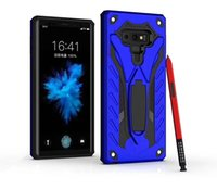 Wholesale armor series - For Samsung Galaxy S9 Plus For Samsung Note 9 A6 Plus 2018 Phantom Series Dual Layer protection Hybrid Armor Case with Kickstand D