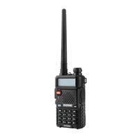 transceptor duplo venda por atacado-Hot Baofeng uv-5r uv5r walkie talkie dual band 136-174 mhz 400-520 mhz em dois sentidos rádio transceptor com 1800 mah bateria livre fone de ouvido (bf-uv5r)