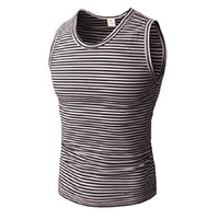 Wholesale hug clothing for sale - Mens Striped Fitness Gym Tank Tops Aerobics Clothing Male Sports Workout Sleeveless Body hugging Vests