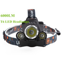 Wholesale 1T6 XPE Cree lumens LED Head Lamp with car charger US EU UK AU plug battery for ourdoor sports fishing camping hunting