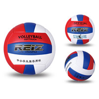 Wholesale volleyball size ball online - Official Size Pu Volleyball High Quality Match Indooroutdoor Training Ball with Free Gift Net Needle Match Volleyball Training Indoor