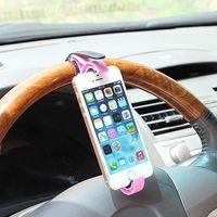 cep telefonları için araba beşiği toptan satış-Araç Direksiyon Cradle Klip Montaj Dirseği Cep Telefonu Smartphone GPS Tutucu