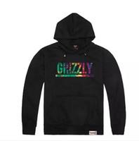 camisola dos hoodies do diamante venda por atacado-New Grizzly hoodies de Abastecimento de Diamantes mens Camisola Gráfico Grizzly marca crewneck pullover com capuz camisola de espessura Frete Grátis