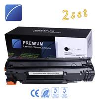 Wholesale Toner Cartridge For Hp - 2PCS CB435A CE285A Toner Cartridge Compatible for HP Laserjet 35A P1005 P1006 Canon Laser Shot LBP3018 3108 3050 3150 3010 3100 Printer