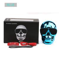 Wholesale mega player resale online - Portable Skull Bluetooth Speakers Skull Head Ghost Wireless Stereo Subwoofer Mega Bass D Stereo Hand free Audio Player Mini Speaker