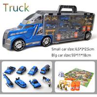 lkw-rüstung großhandel-Transport Carrier Truck Set mit bunten Mini Mental Die Cast Autos innovative Racing Game Map - Auto Transporter Spielzeug für Kinder Spielzeug