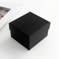 présentoir oreiller noir achat en gros de-Support d'affichage Boîtes de cadeau de bijoux Cas avec coussin de velours noir Paquet d'oreiller spongieux Boîte de rangement noir exquis 1lm jj