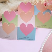 Wholesale wedding thanks cards - Love Heart Shape Greeting Card English Letter Thank You Blessing Cards For Wedding DecorationsWriting Supplies Factory Direct Sale 0 07mt BB