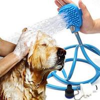 ingrosso cane trimmer-Spruzzatore per doccia per animali domestici Attrezzo per il bagno per animali domestici Spruzzatore per tubi da bagno multifunzione e scrubber in uno, massaggiatore per vasche da bagno per gatti