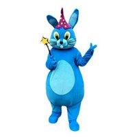 mavi tavşan maskotu toptan satış-Mavi tavşan Maskot Kostümleri Karikatür Karakter Yetişkin Sz 100% Gerçek Resim 009