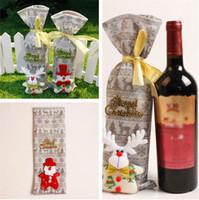ingrosso strumenti merry-Sacchetti di vino Sacchetto regalo di Natale Regalo Strumenti da bar Merry Best Gift Rosso Natale bottiglia di vino Borsa coperchio T5I085