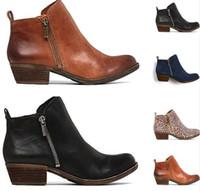 ayak bileği çizme kadınlar düşük topuklu toptan satış-2018 bayanlar shoes kadın ilkbahar sonbahar ayakkabı kadın zapatos mujer sapato kızlar ayak bileği çizmeler kare tıknaz düşük topuklu patik