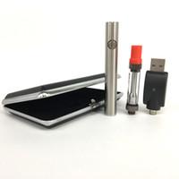 ecig cases leder großhandel-Amigo Liberty Glass Dickölzerstäuber Ledertasche Ecig Starter Kit Esmart 380mAh VV Vorheizen Vape Pen 2,7V 3,1V 3,6V