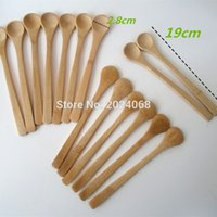Wholesale wooden scoops resale online - Eco Friendly inch Wooden Spoon Ecofriendly Japan Tableware Bamboo Spoon Scoop Coffee Honey Tea Ladle Stirrer