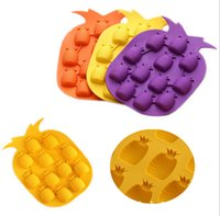 Wholesale pineapple ice mold for sale - Group buy Pineapple Shaped Ice Molds Ice Cream Cubes Choclate Maker Bar Party Ice Tray Cube Freeze Mold Kitchen Bar Accessories