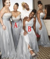 Wholesale one charts - 2018 Summer Spring Bridesmaid Dress Chiffon African Country Garden Formal Wedding Party Guest Maid of Honor Gown Plus Size Custom Made