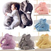 bebek hediye oyuncakları toptan satış-40 cm Fil Peluş Oyuncaklar Fil Yastık Yumuşak Dolması Hayvanlar Dolması Için Hayvanlar Oyuncaklar bebeğin Oyun Arkadaşı Hediyeler Çocuklar Çocuklar için